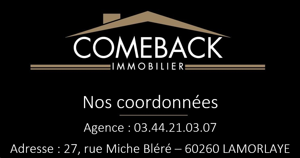 Exclusivement chez Comeback immobilier ! Maison de ville en plein coeur de  CHANTILLY .... 8/8